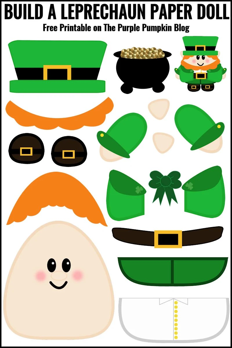 photograph relating to Leprechaun Printable known as Cost-free Printable Produce A Leprechaun Paper Doll