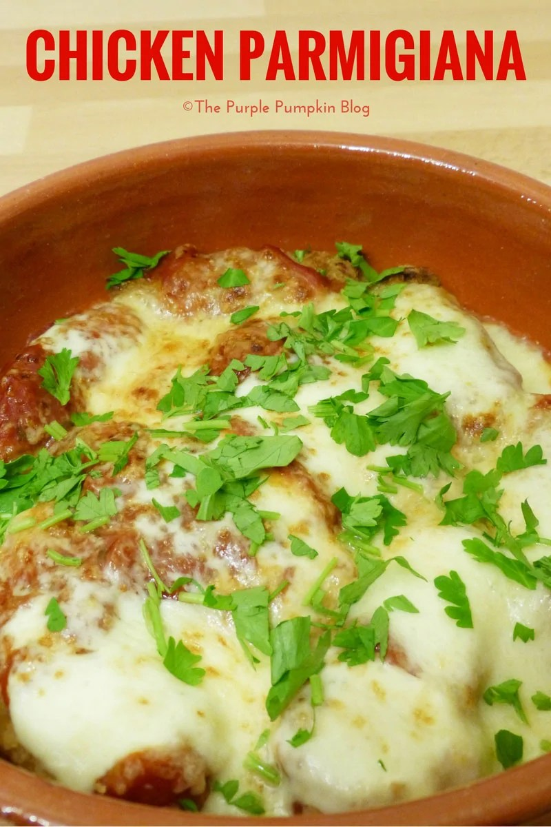 Chicken Parmigiana - what's not to love about a dish that is covered with melted cheese?! So easy to make, and a tasty family dinner any night of the week!