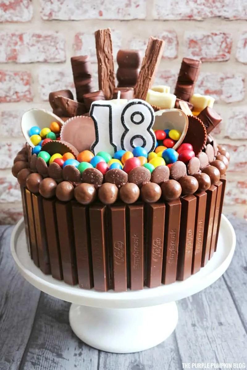 Chocolate Explosion Cake/Candy Bar Cake/KitKat Cake