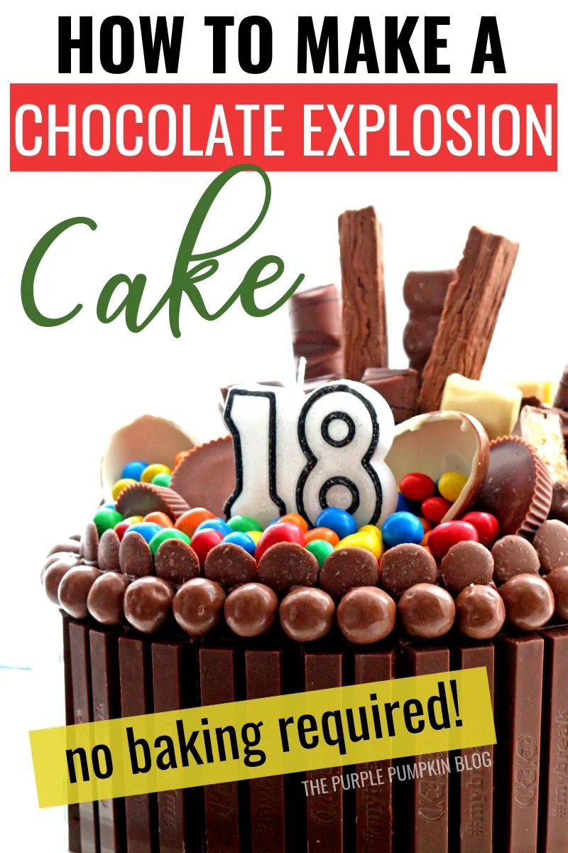 Chocolate explosion cake - no baking required