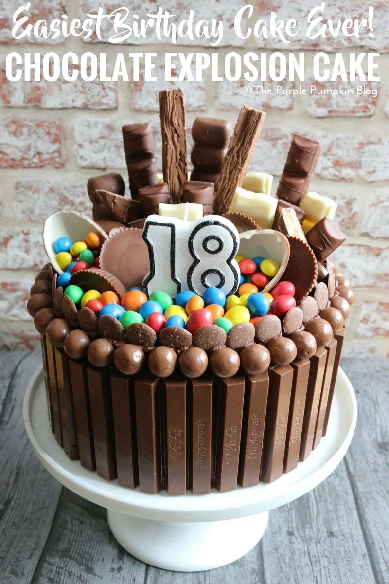 Easiest Birthday Cake Ever! Chocolate Explosion Cake