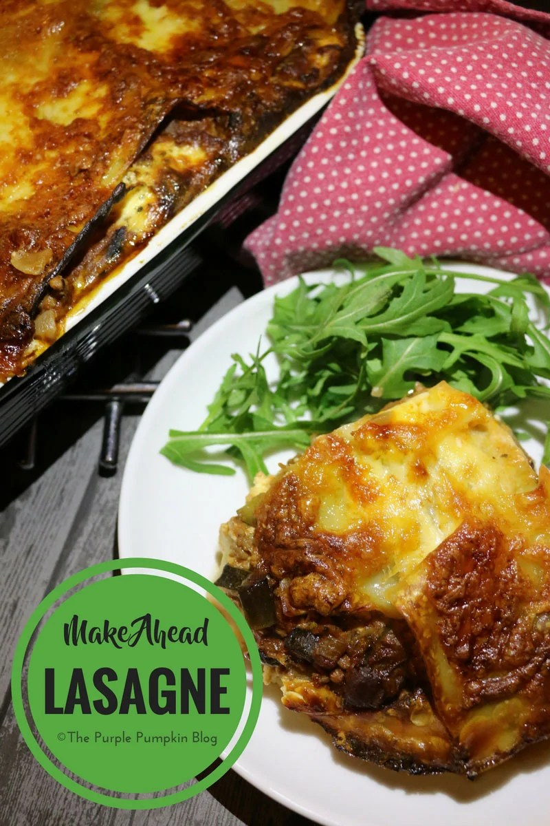Make-Ahead Lasagna - this is a great meal prep recipe. You can keep it in the fridge if you plan to eat it a few days after preparing, or freeze for cooking several weeks later. This has added vegetables to make the ground beef go further.