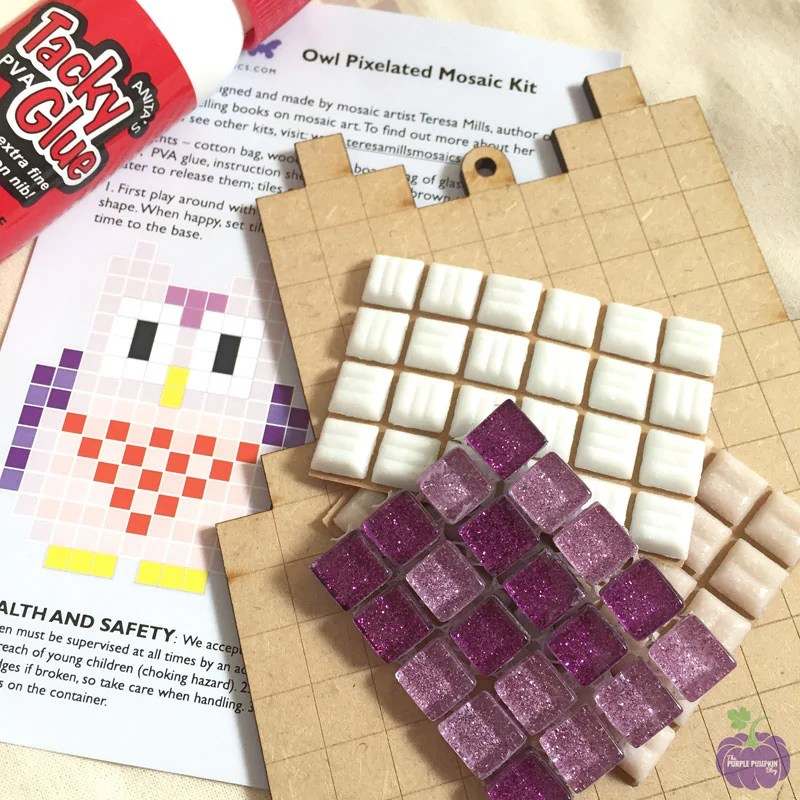 Pixelated Mosaic Kit - Owl