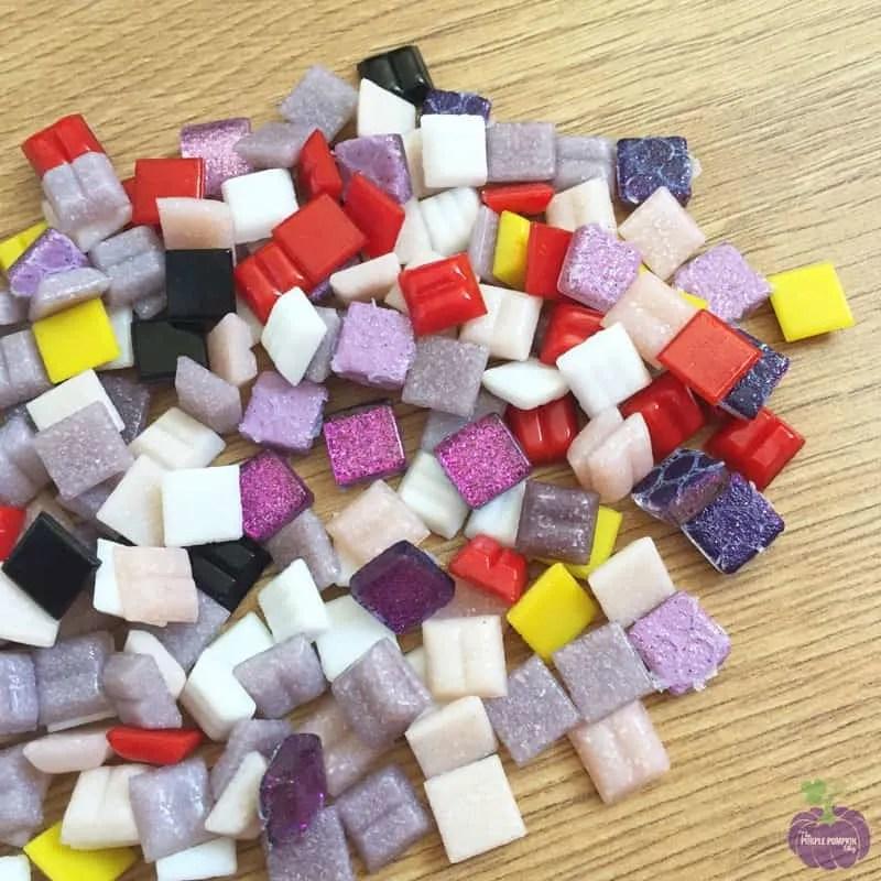 Square Mosaic Tiles - Pixelated Mosaic Kit - Owl
