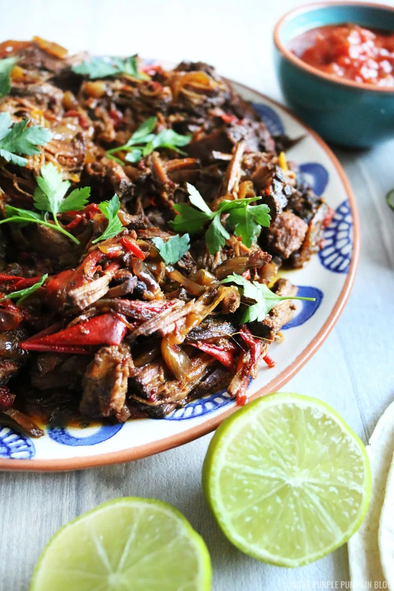 Beef Fajitas made in the slow cooker