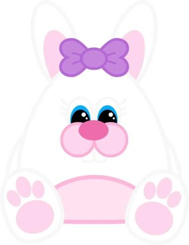 Free Printable Easter Bunny (Girl)
