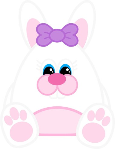 Free Printable Easter Bunny (Girl)