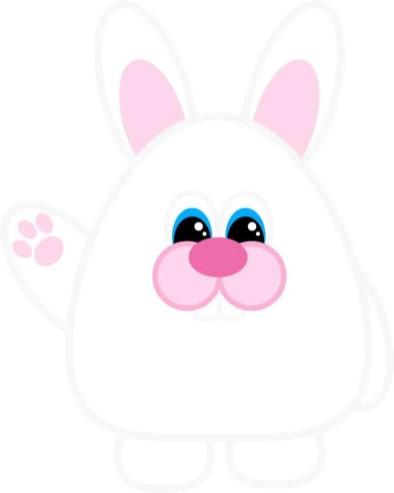 Free Printable Easter Bunny (Waving)