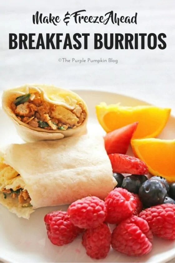 Make & Freeze Ahead Breakfast Burritos. Make a stack of these on the weekend, and you have breakfast prepared for the whole week. Just unwrap and cook in the microwave! A hot, cooked breakfast in just minutes.