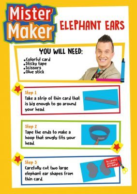 Mister Maker Elephant Ears Activity Sheet
