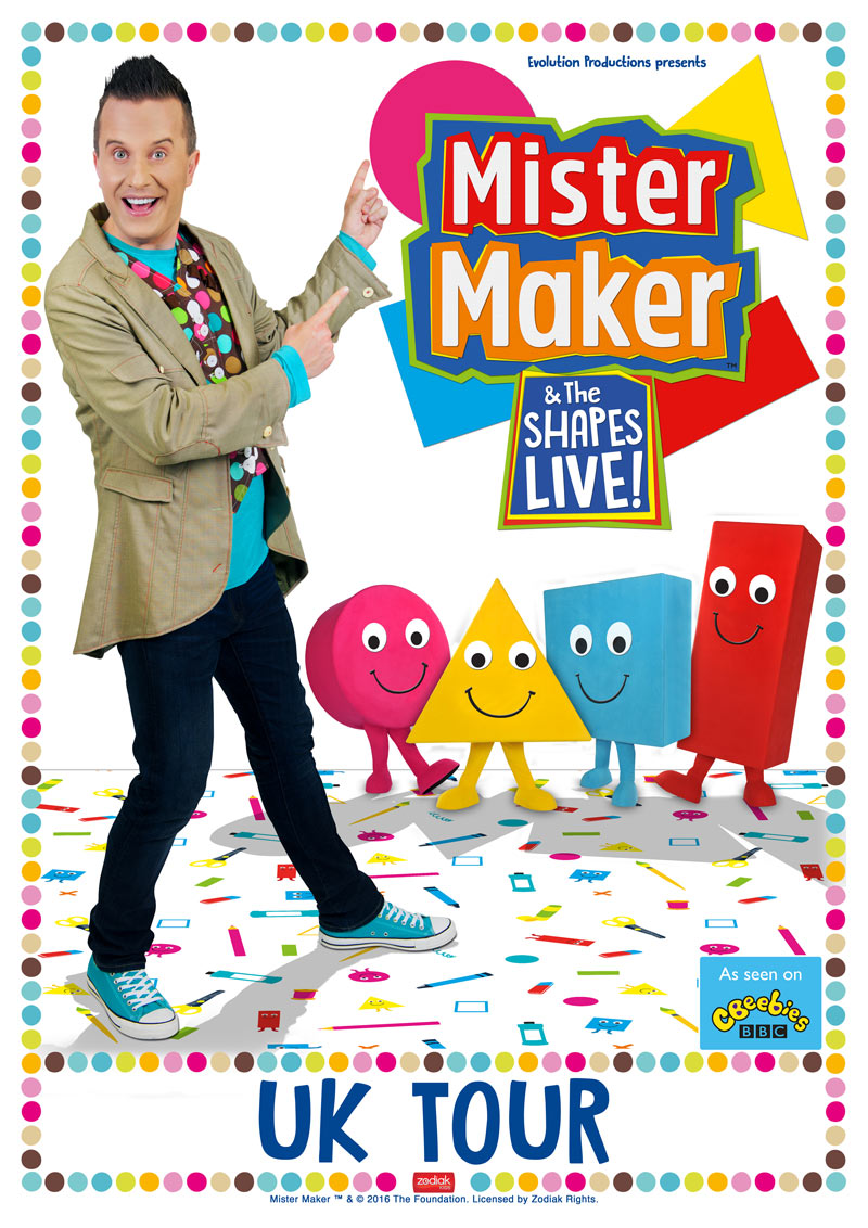 Mister Maker & The Shapes Live UK Tour