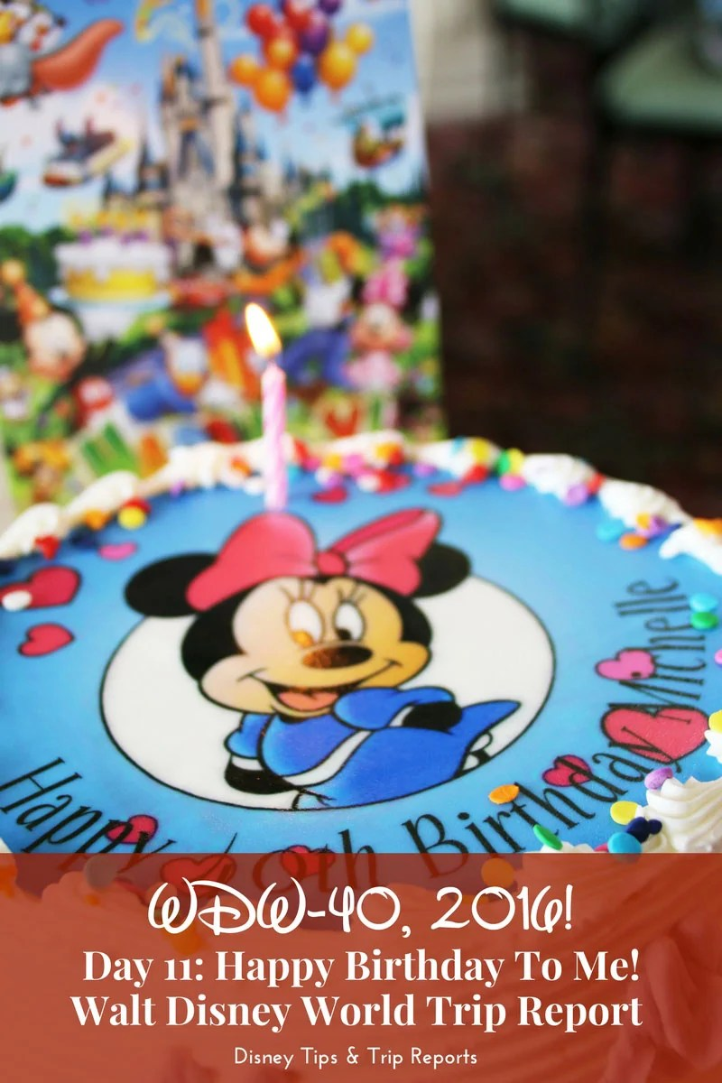 Day 11 - Happy Birthday To Me! - WDW-40, 2016