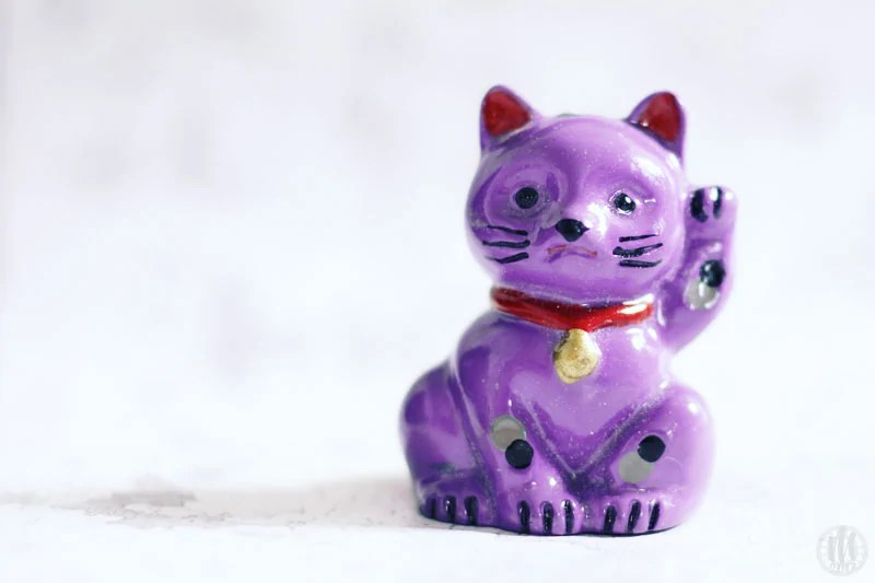 Project 365 - 2017 - Day 132 - Purple Lucky Cat