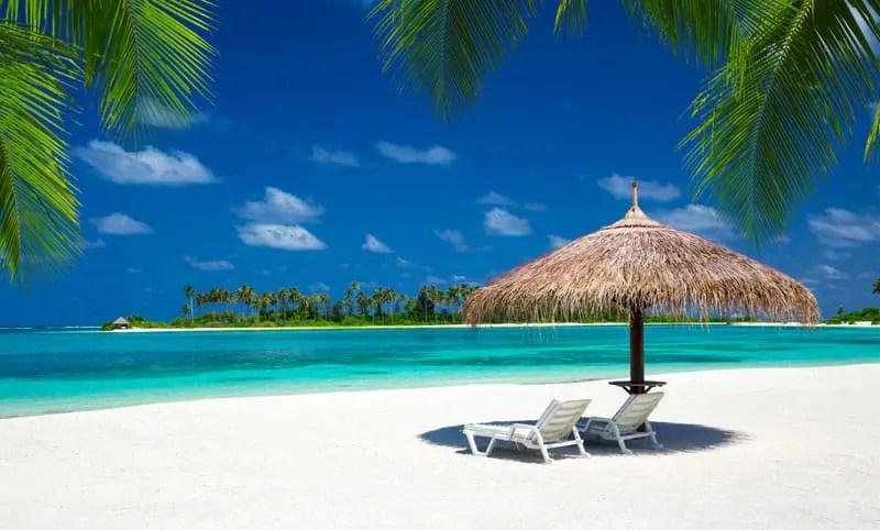 White Sandy Beach - Maldives