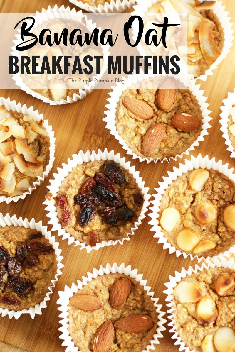 These Banana Oat Breakfast Muffins are a great grab and go breakfast that you can pick up as you're heading out the door. You can make these breakfast muffins ahead for the week and store in an airtight container. They can be customised with your favourite toppings, and are gluten free too!
