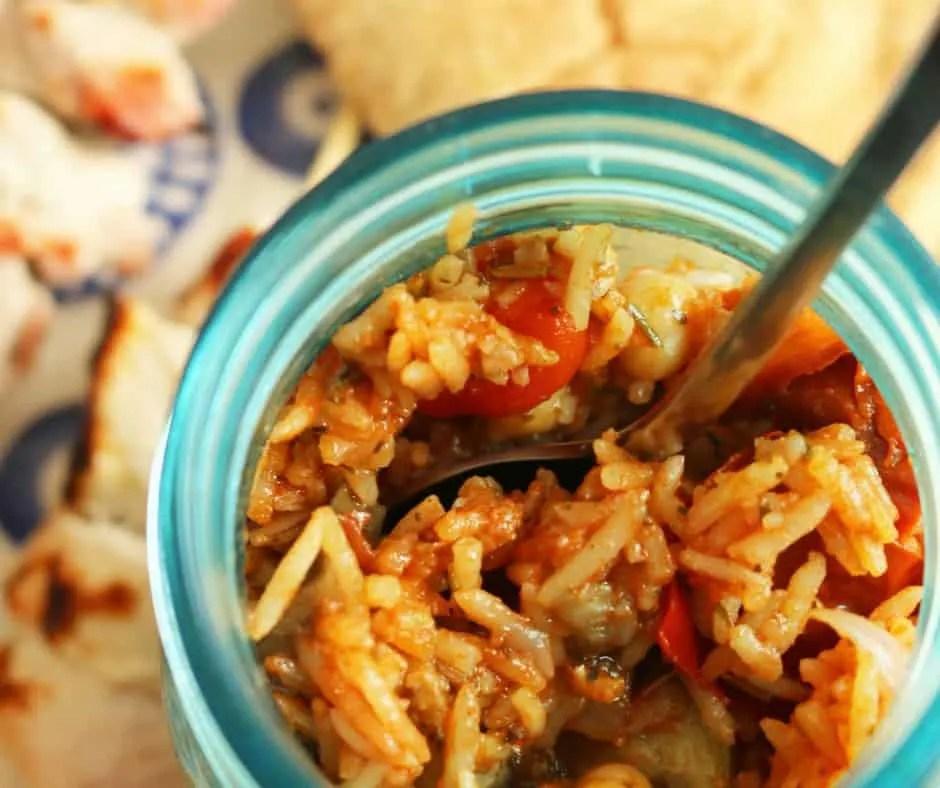 Roasted Vegetable, Chick Pea & Rice Salad