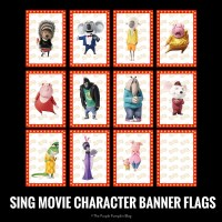 SING Movie Character Banner Flags