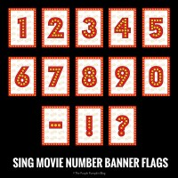 SING Movie Number Banner-Flags
