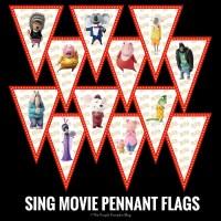 SING Movie Pennant Flags