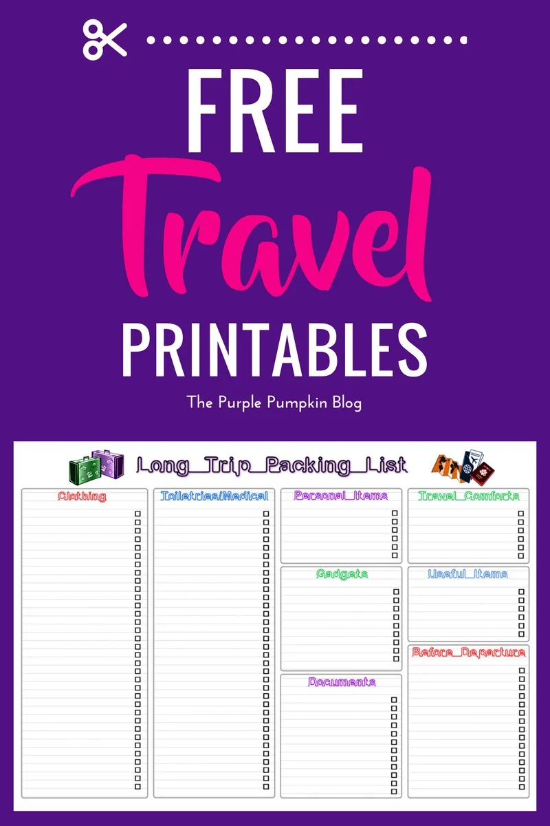 Free Travel Printables - don't leave home without them!