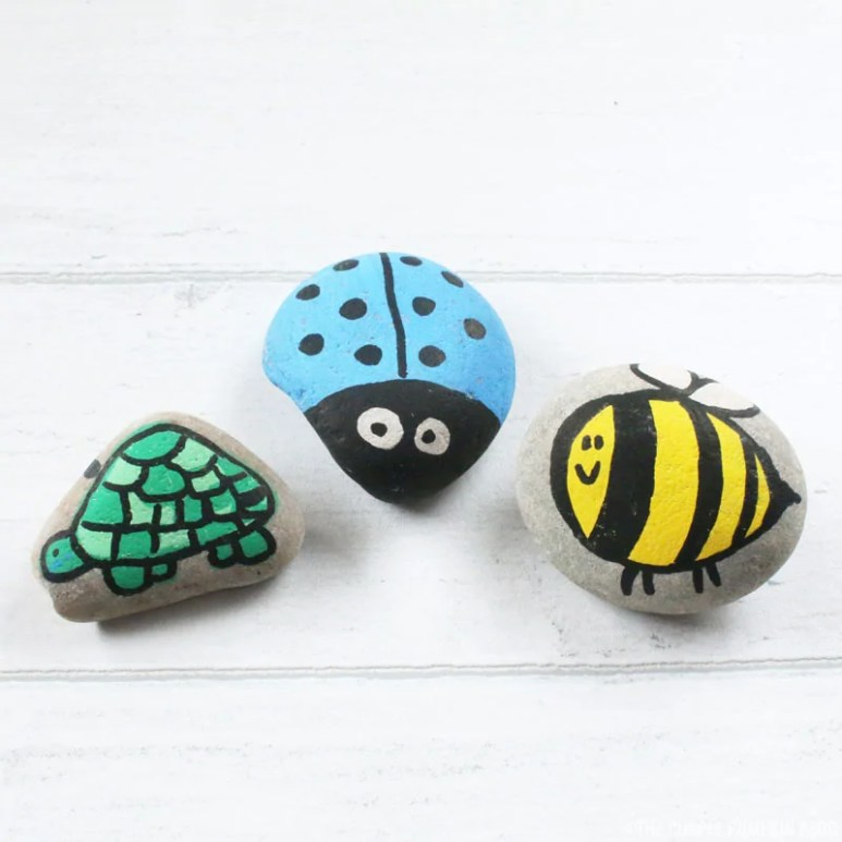 Painting Bug & Animal Stones