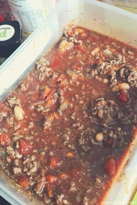 Prepping Pasta Fagioli