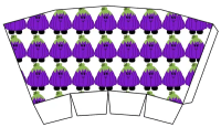 Cute Halloween Popcorn Boxes - Free Printables - purple pumpkin
