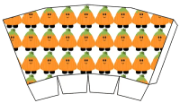 Cute Halloween Popcorn Boxes - Free Printables - pumpkin