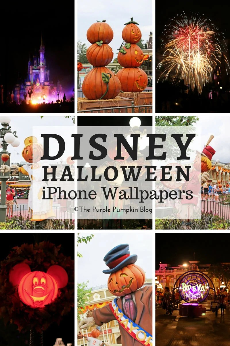 Disney Halloween iPhone Wallpapers! Download these awesome wallpapers for free at The Purple Pumpkin Blog. They're all from Halloween at Magic Kingdom, Walt Disney World! There are lots of other free Disney parks wallpapers too!