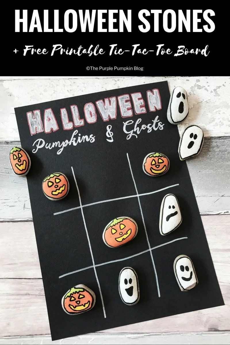 photograph about Free Printable Tic Tac Toe Board identify Halloween Stones: Tic-Tac-Toe + Free of charge Printable