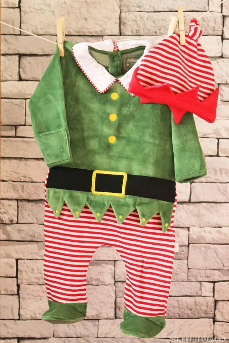 Baby Elf Sleepsuit & Hat Set