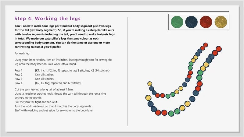 DIY Caterpillar Draught Excluder Instructions 10