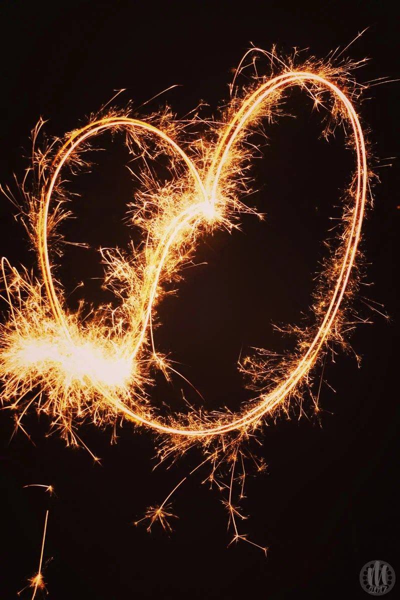 Project 365 - 2017 - Day 329 - a sparkler drawing a heart shape