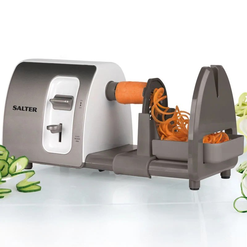 Salter 3 in 1 Side Loading Electric Fruit and Vegetable Spiralizer