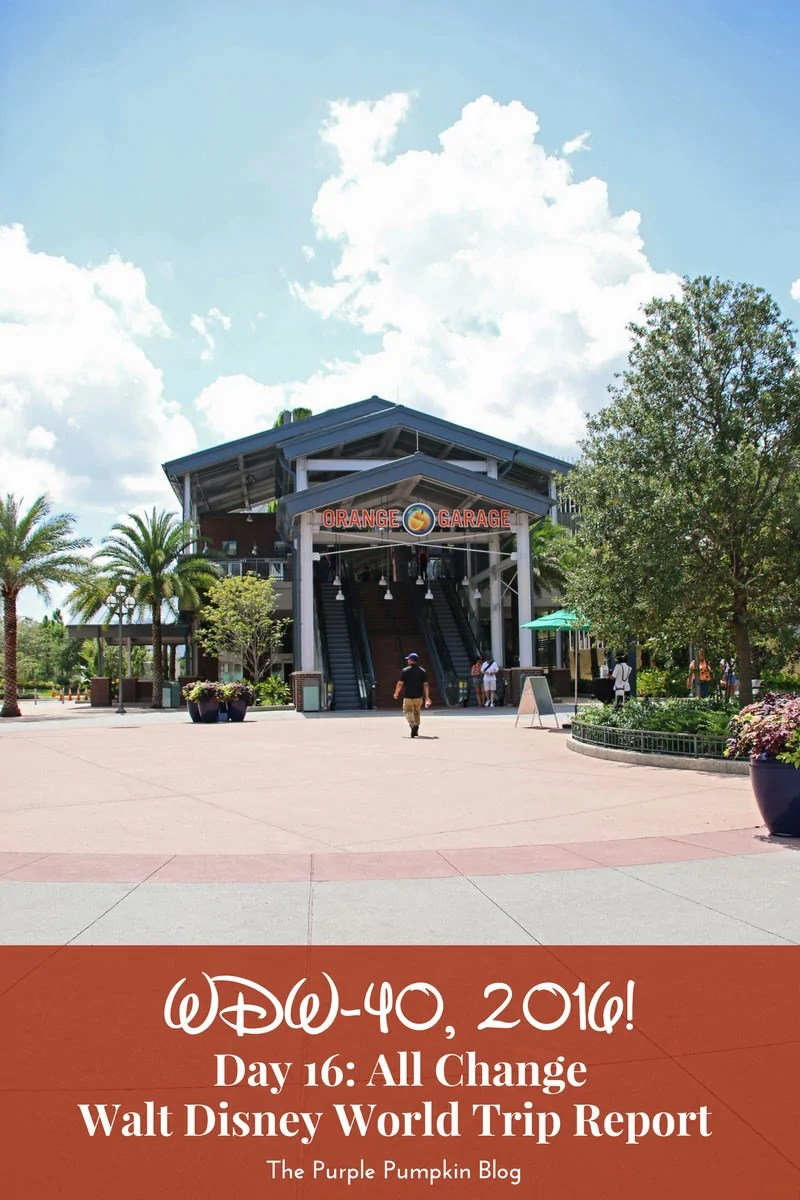 A day at Disney Springs is the top in Day 15: All Change / WDW-40, 2016 / Disney Trip Report