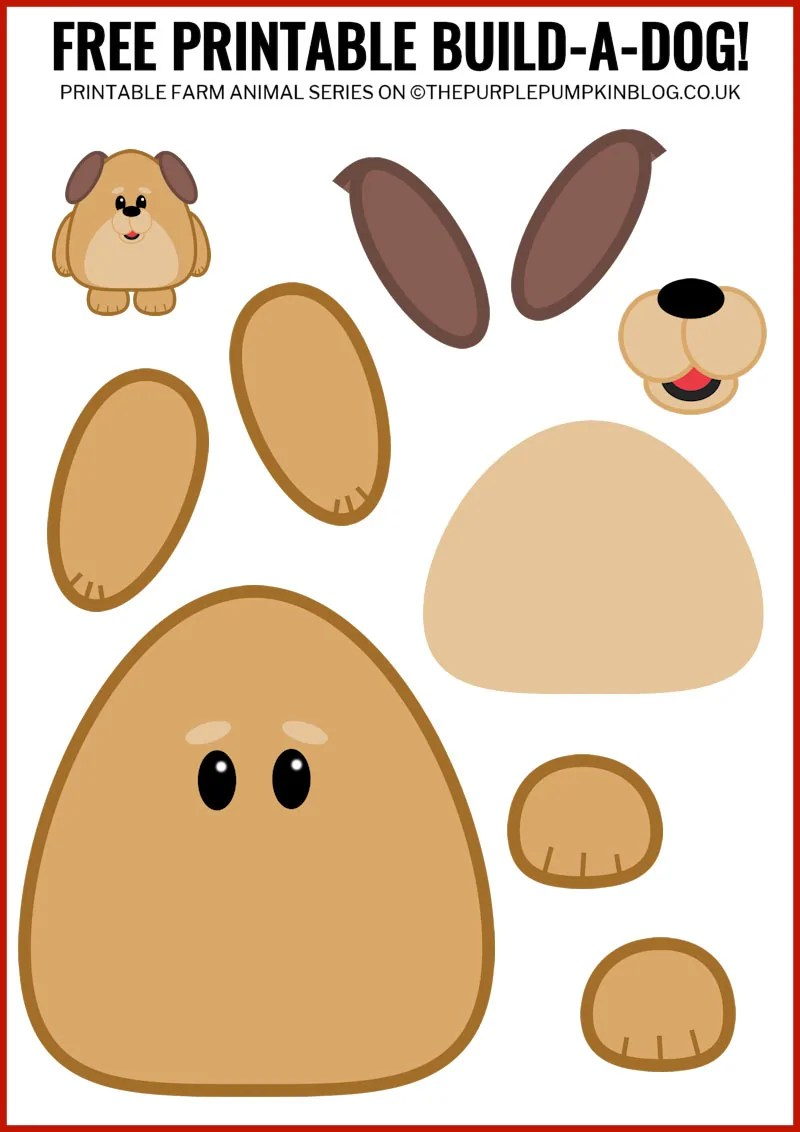 image about Animal Printable named No cost Printable Create-A-Doggy / Printable Pets Sequence