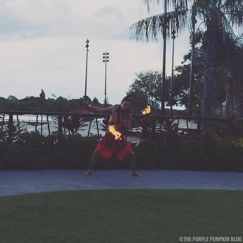 Torch Lighting Ceremony - Disney's Polynesian Village Resort