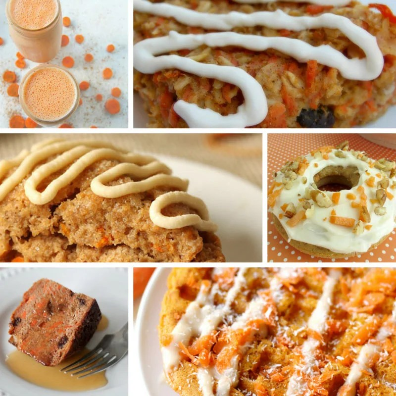 Carrot Cake Recipes including smoothies, scones, doughnuts and waffles.
