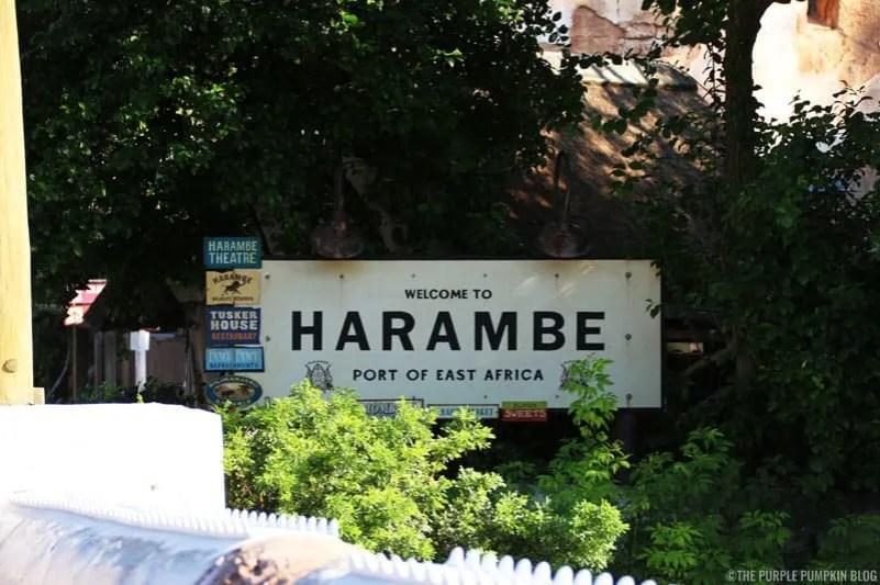 Animal Kingdom - Harambe sign