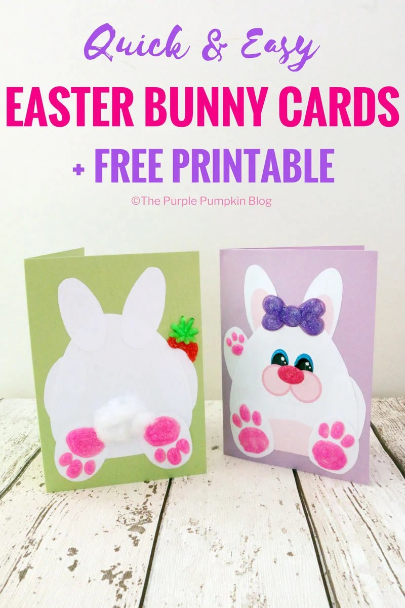 Make these quick and easy (and not to mention, super cute) Easter Bunny cards with the free printable included with the tutorial. Add some glitter glue, or other embellishments to bring your card to life. Great Easter activity for the kids!