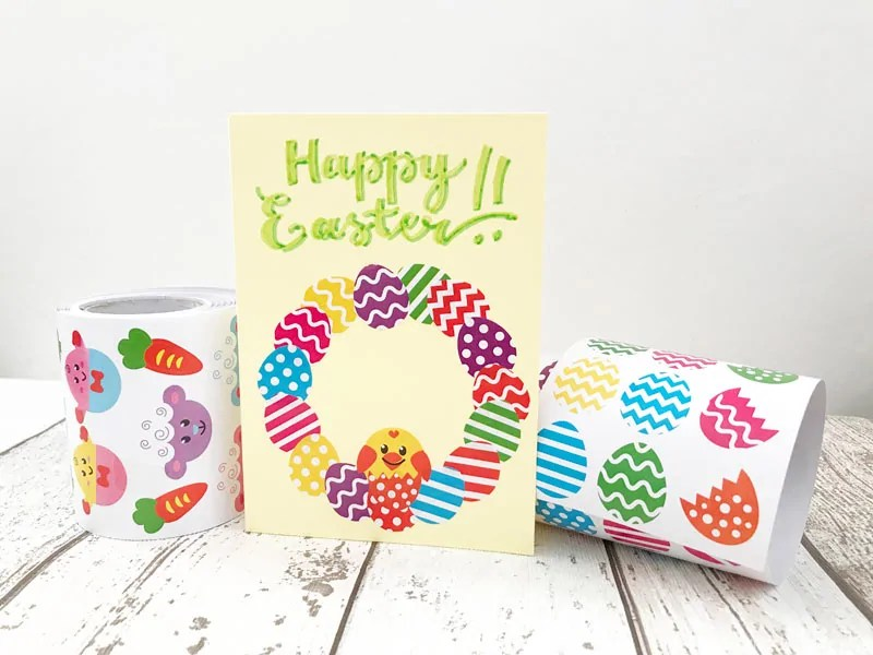 Easter Egg Wreath Card