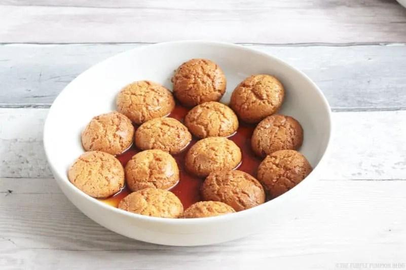 amaretti biscuits soaked in espresso