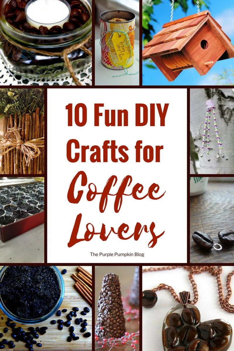 10 Fun DIY Crafts for Coffee Lovers / Don't throw out those K-Cups quite yet. Don't toss those old beans. Love crafts? And Coffee? Why not mix them both? You'd be surprised at the things people have come up with. I rounded up 10 fun crafts for coffee lovers who want to make something out of what other people would dispose of.