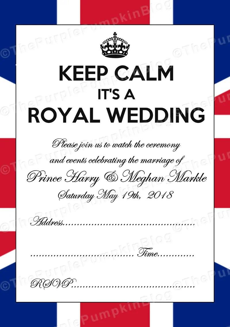 Free Printable Royal Wedding Invitation