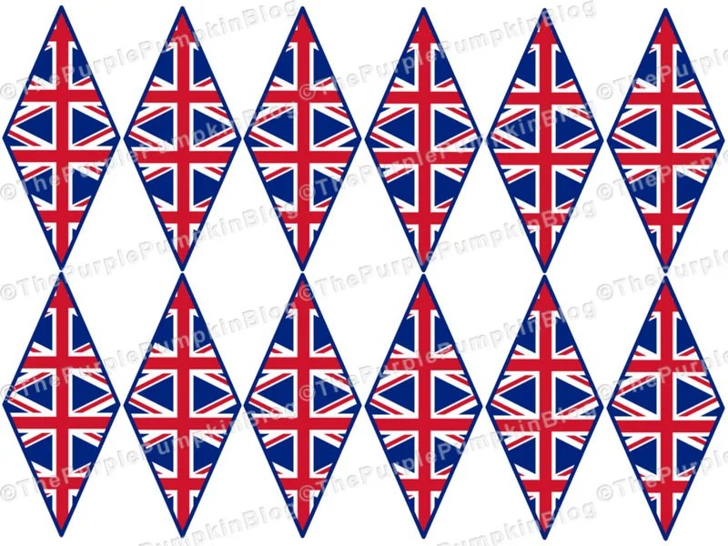 Royal Wedding Mini Flags