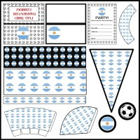 Argentina: Football Party Printable Set