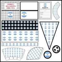 Argentina: Football Party Printable Set