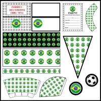 Brazil: Football Party Printable Set