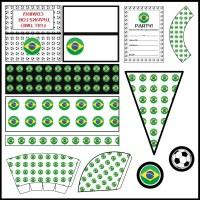 Brazil: Football Party Printable Set