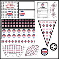Costa Rica: Football Party Printable Set
